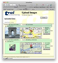 The result: image and map in FileMaker database
