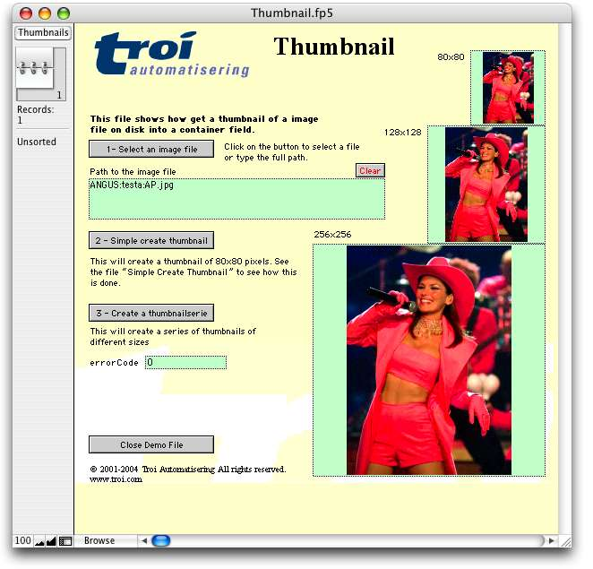 file plug-in thumbnails